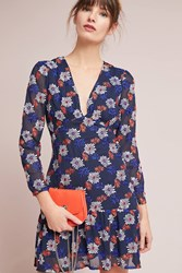 Ella Moss Everly Floral Dress Blue Motif