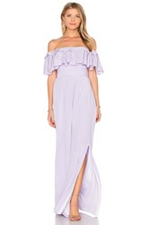 Jay Godfrey Stavro Maxi Dress Lavender