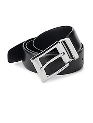A. Testoni Cintura Diritta Leather Belt Nero