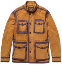 Tod's Painted Suede Field Jacket Tan