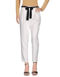 Atos Lombardini Trousers Casual Trousers White