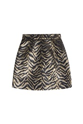Roberto Cavalli Jacquard Mini Skirt Multicolor