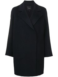 Theory Double Face Coat Blue