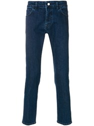 Entre Amis Classic Fitted Jeans Cotton Polyurethane Blue