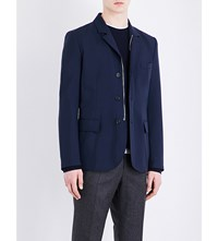 Gieves And Hawkes Zipped Wool Jacket Navy