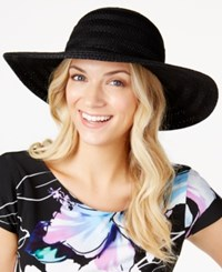 Inc International Concepts Crochet Packable Floppy Hat Only At Macy's Black