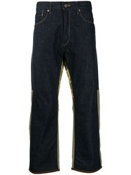 Junya Watanabe Deconstructed Cropped Trousers Blue