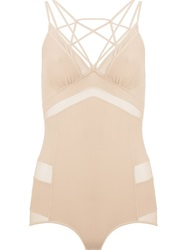 Giuliana Romanno Panelled Body Nude And Neutrals