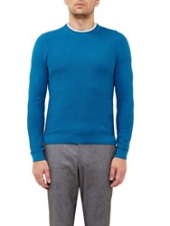 Ted Baker Marlin Textured Crew Neck Jumper Turquoise