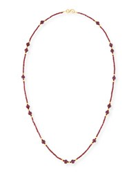 Splendid Company Long Beaded Ruby Necklace 38