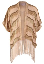 Miss Selfridge Tunic Metallic Gold