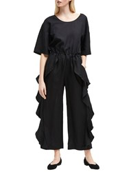 French Connection Dae Frill Jumpsuit Black
