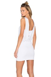 Lanston Drape Maxi Mini Dress White