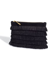 Jigsaw Tassel Clutch Bag Black