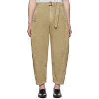 Christophe Lemaire Beige Twisted Chino Trousers