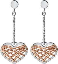 Links Of London Dream Catcher 18Ct Rose Gold Vermeil And Sterling Silver Earrings