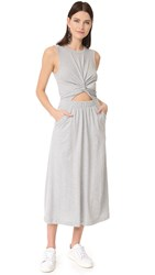 Alexander Wang Front Twist Muscle Dress Heather Grey