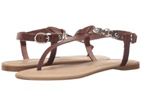 Massimo Matteo Thong Buckle Ankle Strap Testa Di Moro Women's Sandals Brown