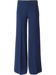 P.A.R.O.S.H. Classic Flared Trousers Blue