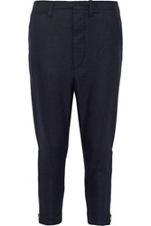 Nlst Officer Wool Blend Flannel Tapered Pants Navy