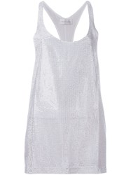 Faith Connexion Rhinestone Embellished Tank Top White