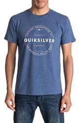 Quiksilver Men's Zone Out Graphic T Shirt Dark Denim Heat