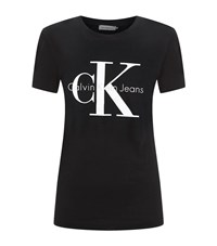 Calvin Klein Jeans Icon Logo T Shirt Female Black
