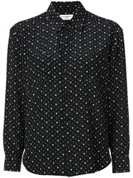 Saint Laurent Heart Print Shirt Black