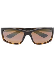 Maui Jim Rectangular Frame Sunglasses Brown