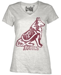 Royce Apparel Inc Women's Short Sleeve Texas A And M Aggies T Shirt White