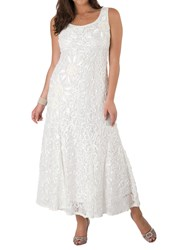 Chesca Lace Cornelli Embroidered Dress Ivory