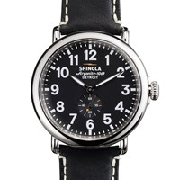 Shinola Runwell 47Mm Watch Black
