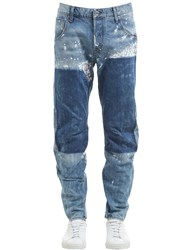 G Star Arc 3D Tapered Washed Destroyed Jeans