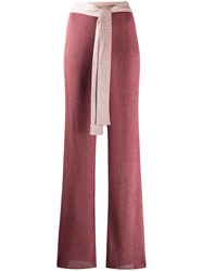 M Missoni Tie Fastening Knitted Trousers Pink