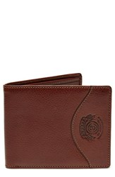Ghurka Men's Classic Leather Wallet Metallic Vintage Chestnut