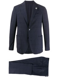 Lardini Checked Two Piece Suit 60