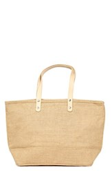 Cathy's Concepts 'Nantucket' Personalized Jute Tote Beige Natural Plain
