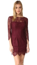 Bb Dakota Everton V Back Lace Dress Bordeaux