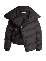 Marques Almeida Asymmetric Quilted Down Coat Black