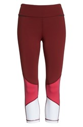 Alala Colorblock Crop Tights Berry White Pink