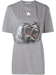 Givenchy Monkey Print T Shirt Grey