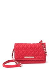 Steve Madden Terry Quilted Crossbody Wallet Red