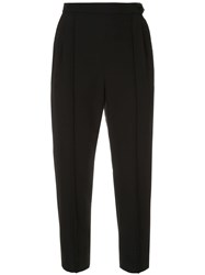 Loveless Cropped Tailored Trousers Black