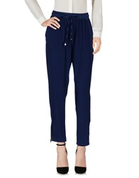 Miss Miss By Valentina Casual Pants Dark Blue