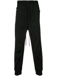 Song For The Mute Drop Crotch Track Pants Wool Black