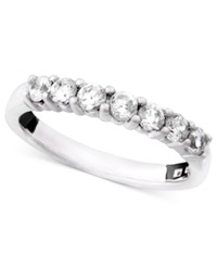 Macy's Seven Diamond Anniversary Band Ring In 14K White Gold 1 2 Ct. T.W.