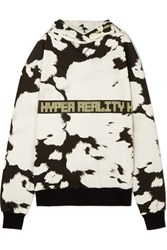 House Of Holland Oversized Embroidered Printed Cotton Jersey Hoodie White