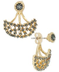 Inc International Concepts Snow Queen Gold Tone Crystal Earring Jackets Only At Macy's