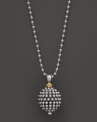 Lagos Sterling Silver Caviar Ball Pendant Necklace 34