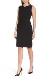 Boss 'S Dilamena Crepe Sheath Dress Black